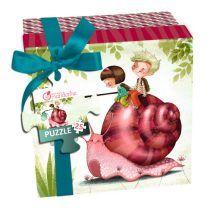Puzzle en caja regalo: Caracol (25 piezas)