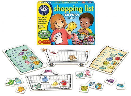 Juego la Lista de la compra – Ropa (en Inglés)