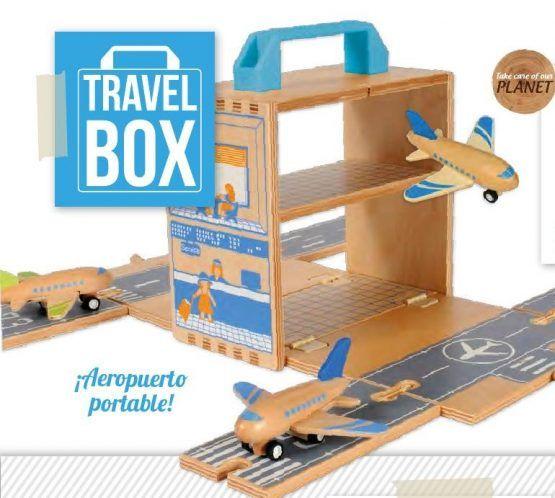 Aeropuerto portátil – Aviones y Helicóptero de madera