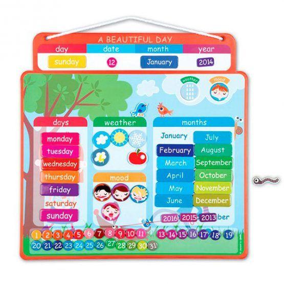 Agenda magnética calendario en inglés