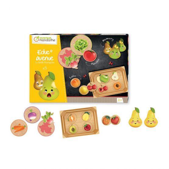 Caja de Juegos Educativos La Familia Pera