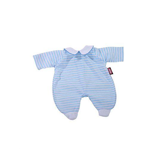 Pijama de rayitas celeste y blanco 30 cm