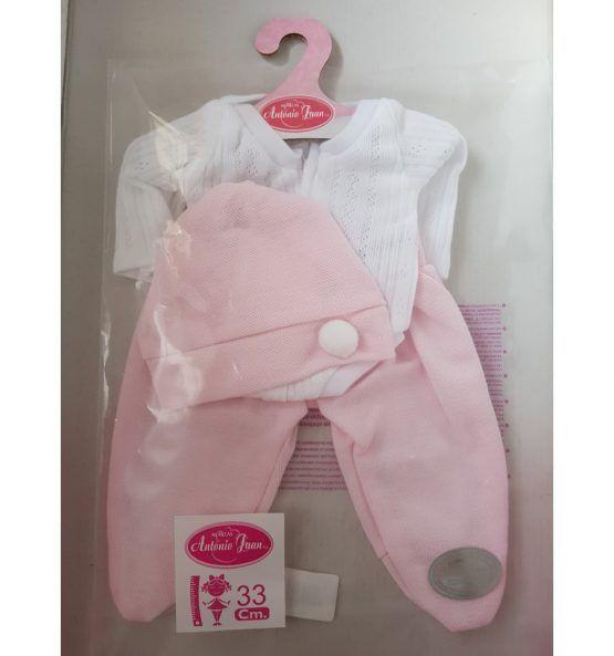 Conjunto de body y polainas rosa