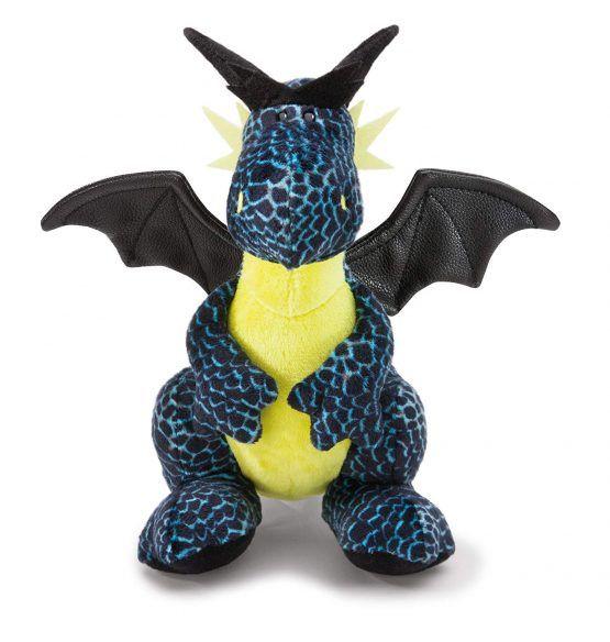 Peluche Dragón de Hielo negro-azul