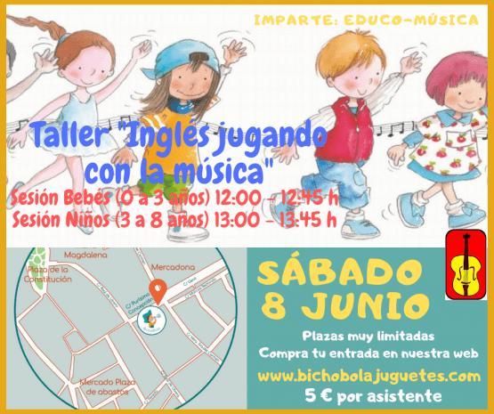 Taller «Inglés jugando con la música» Entrada adulto (Sesión niños)