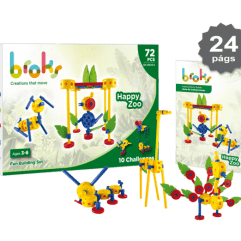 BROKS – HAPPY ZOO (72 Piezas)