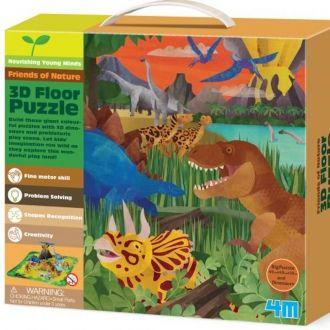 Puzzle 3D dinosaurios Thinking Kits