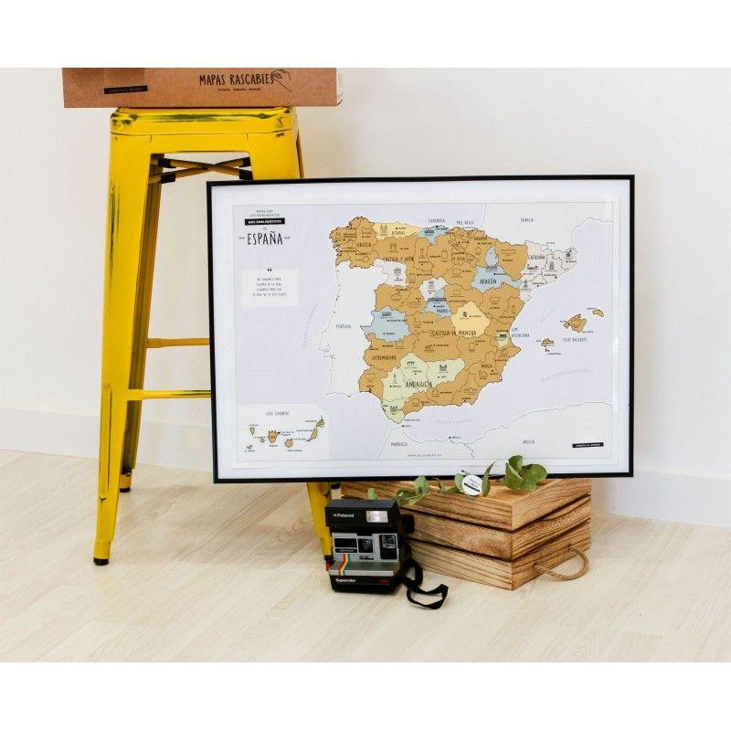 Mapa Rascable Espana Bichobola Juguetes