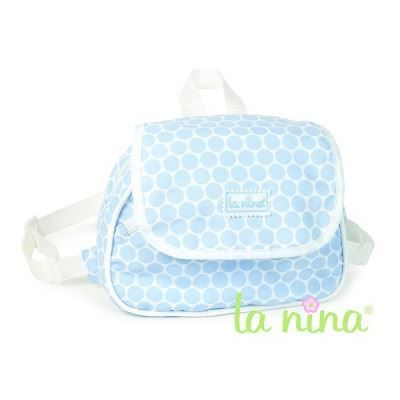 Bolsa mochila topos azules