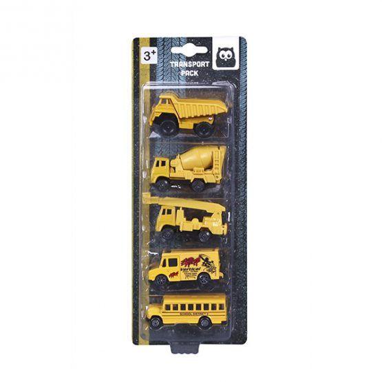 Set 5 vehículos construcción